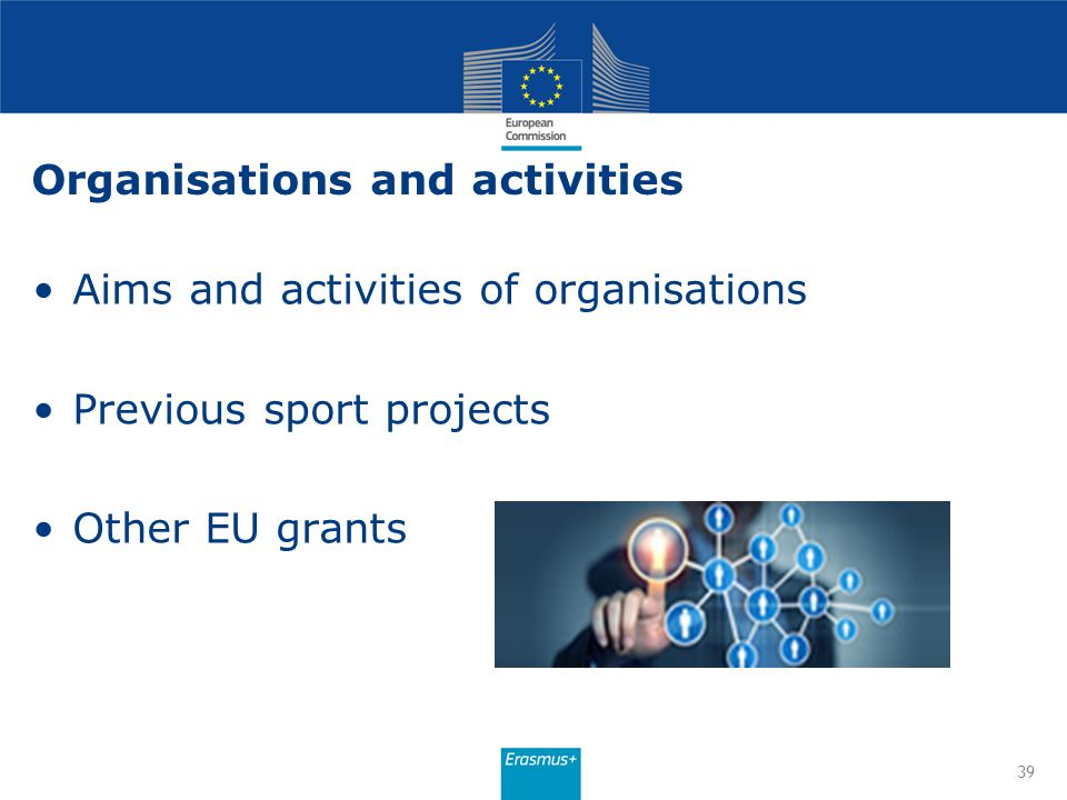 Organisations and activities