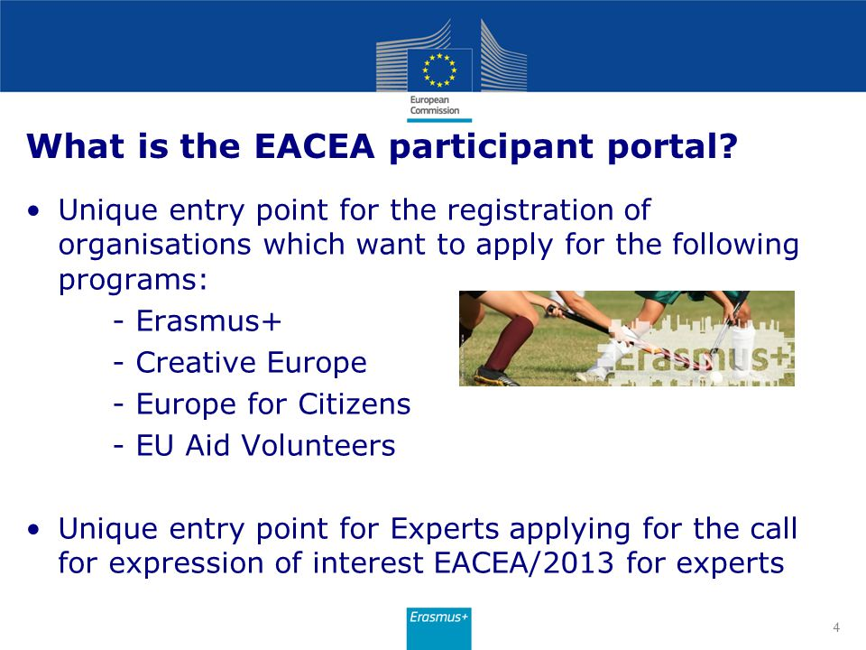 What is the EACEA participant portal