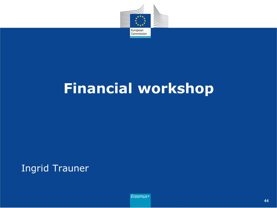 Financial workshop Ingrid Trauner