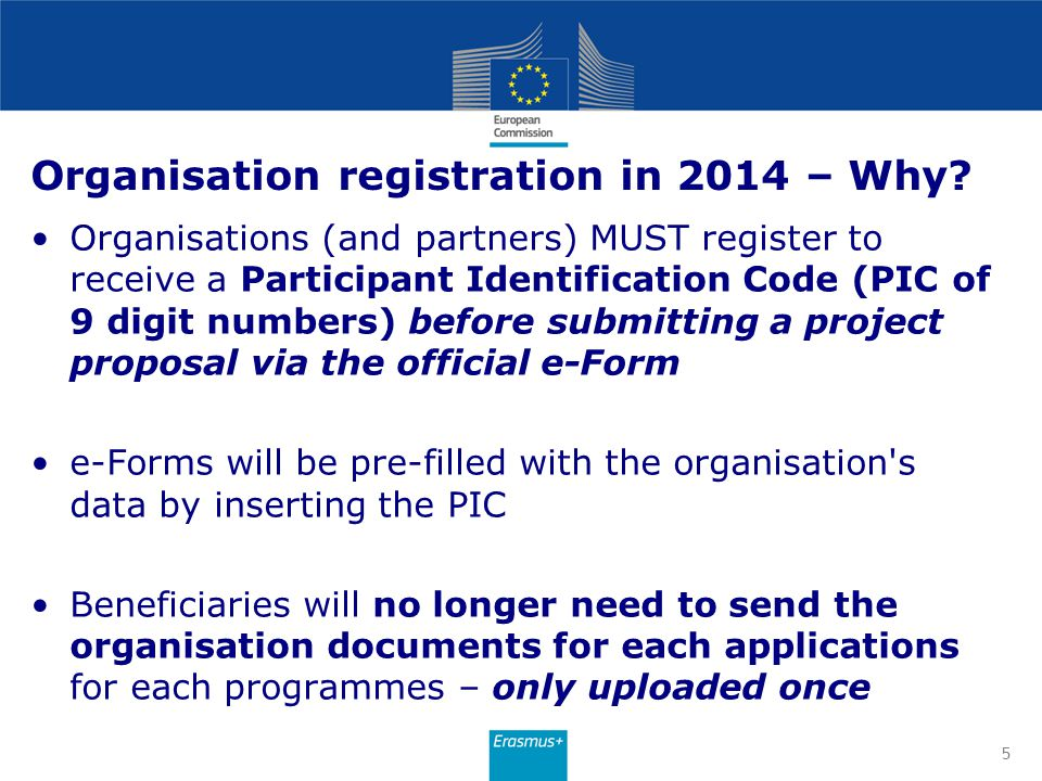 Organisation registration in 2014 – Why