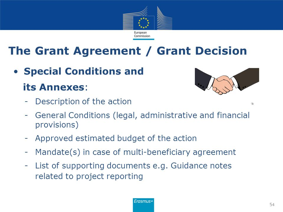 The Grant Agreement / Grant Decision