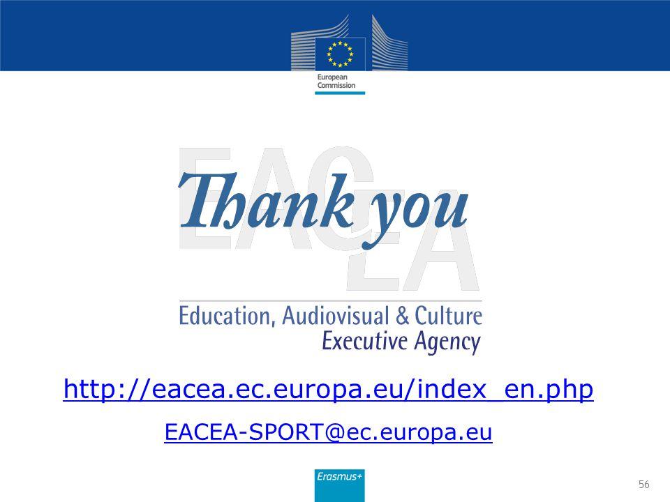 http://eacea.ec.europa.eu/index_en.php EACEA-SPORT@ec.europa.eu