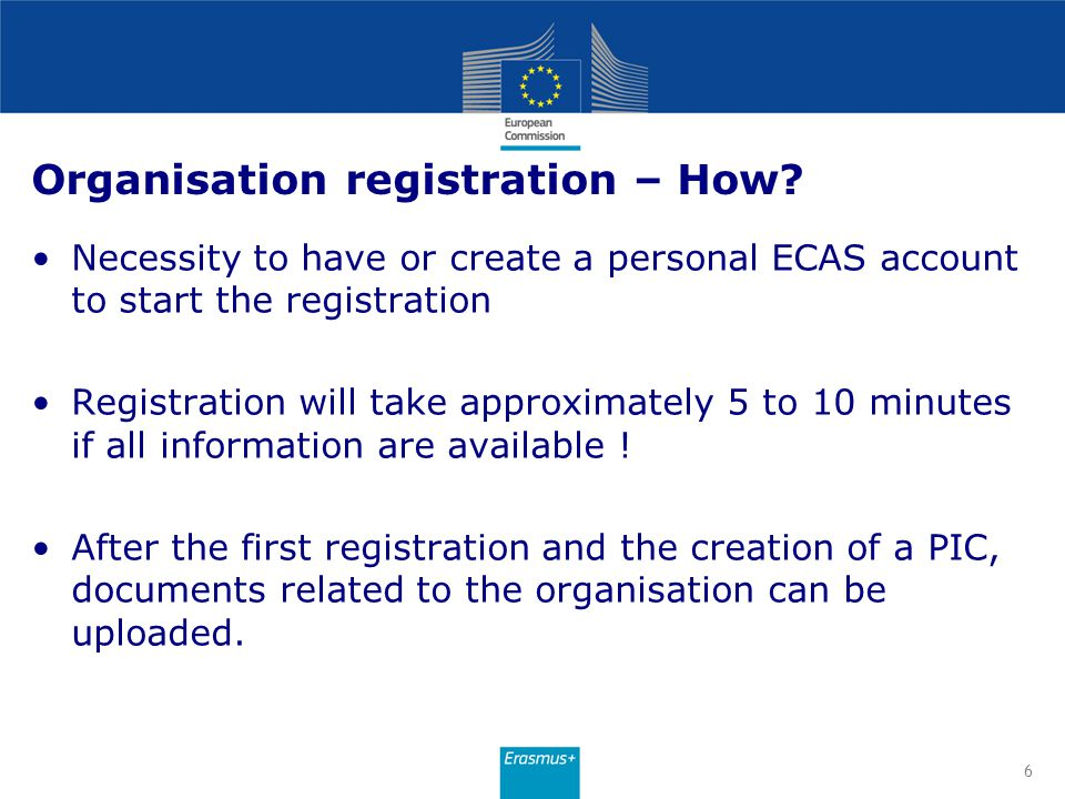 Organisation registration – How