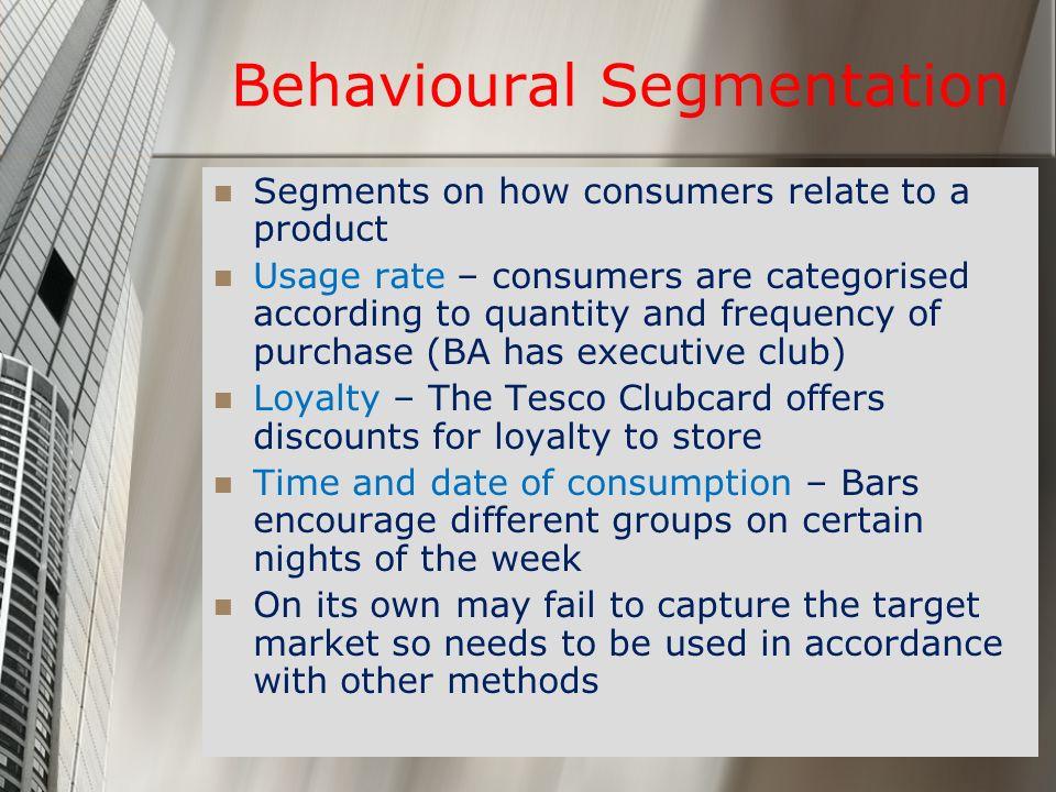 Behavioural Segmentation