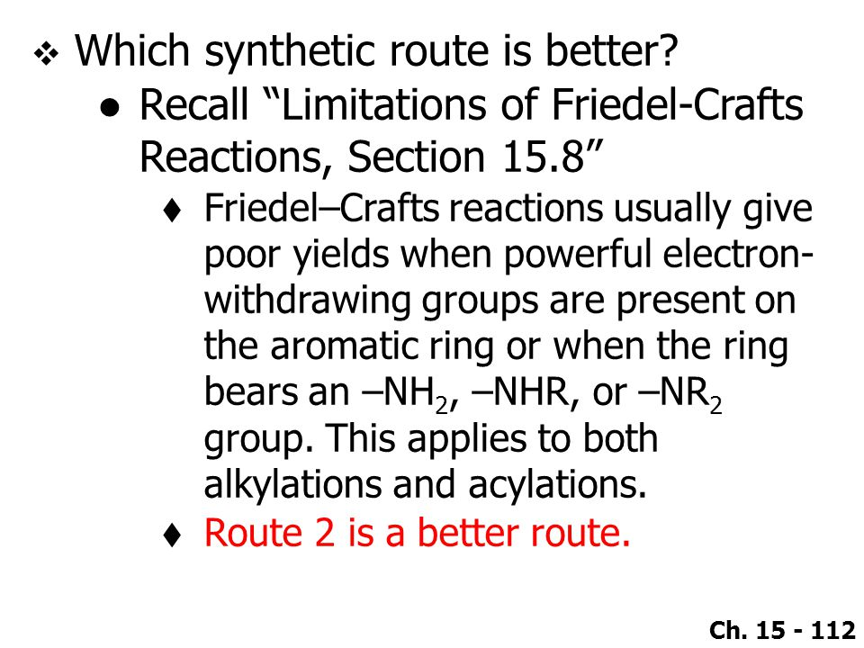 Which synthetic route is better
