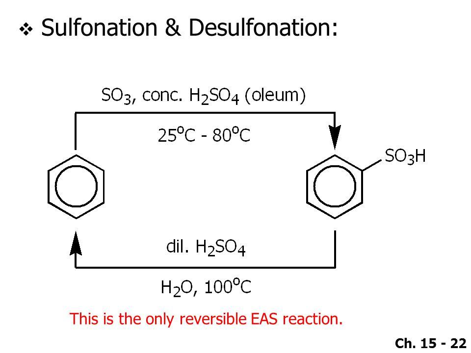Sulfonation & Desulfonation: