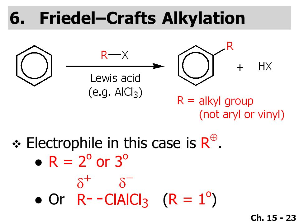 Friedel–Crafts Alkylation