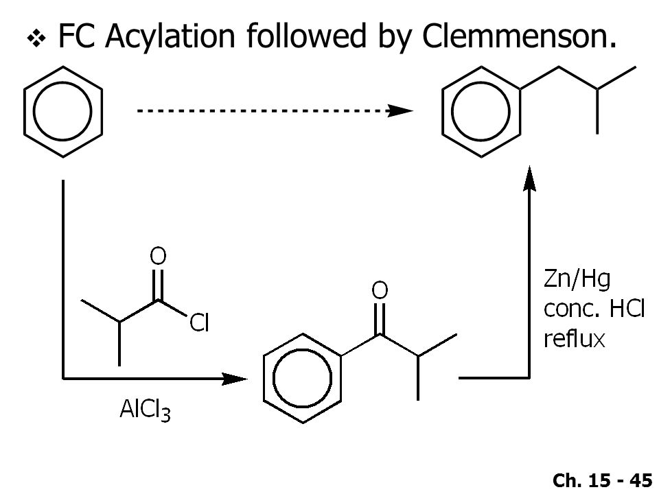 FC Acylation followed by Clemmenson.