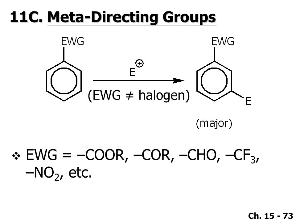 11C. Meta-Directing Groups