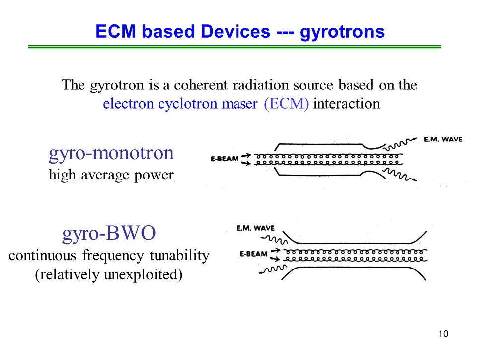 ECM based Devices --- gyrotrons
