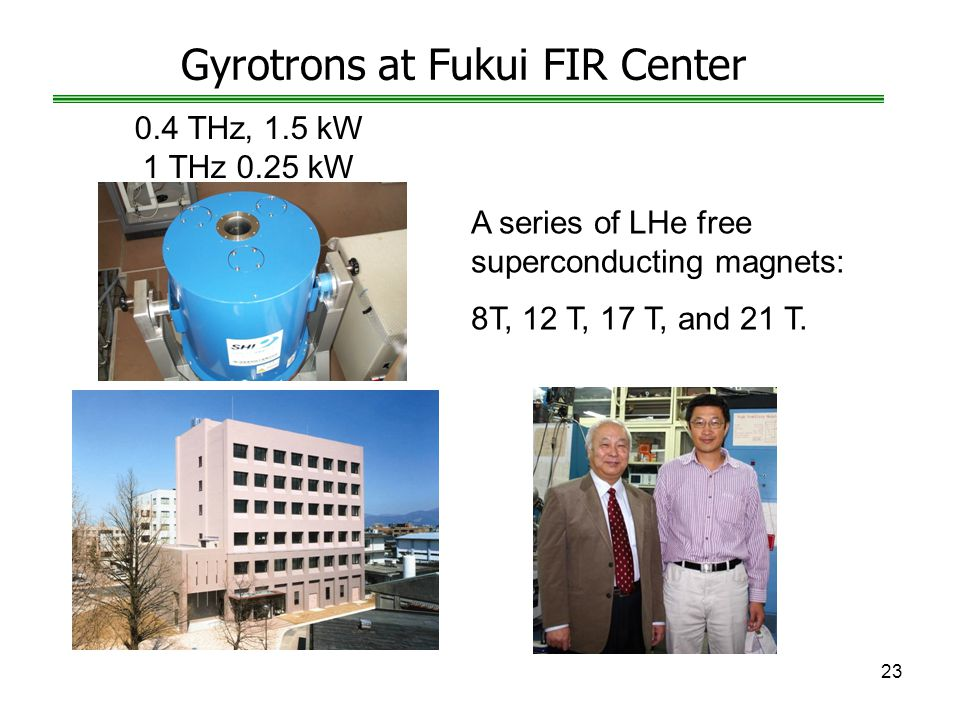 Gyrotrons at Fukui FIR Center