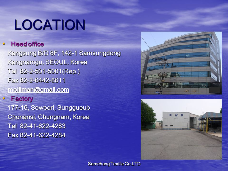 Samchang Textile Co.LTD