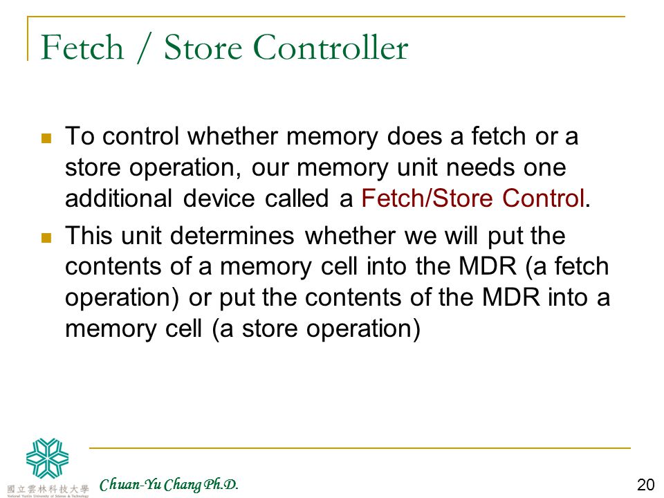 Fetch / Store Controller