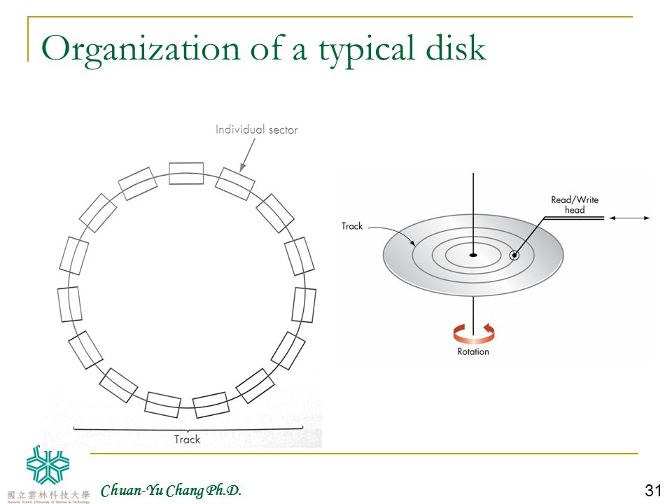 Organization of a typical disk