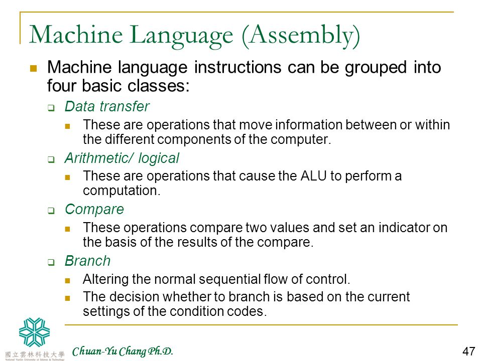 Machine Language (Assembly)