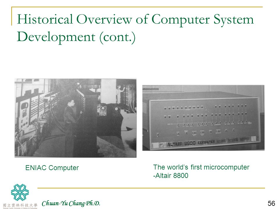 Historical Overview of Computer System Development (cont.)