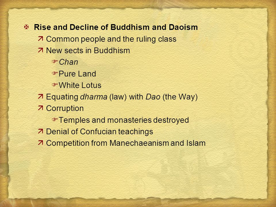 Rise and Decline of Buddhism and Daoism