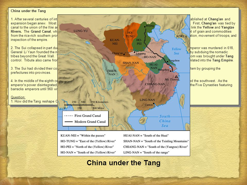 China under the Tang China under the Tang