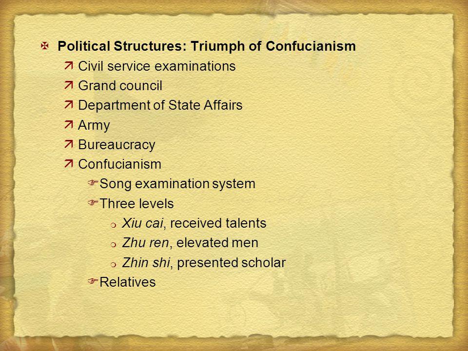 Political Structures: Triumph of Confucianism