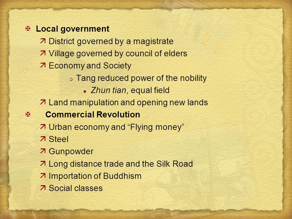 Local government District governed by a magistrate. Village governed by council of elders. Economy and Society.