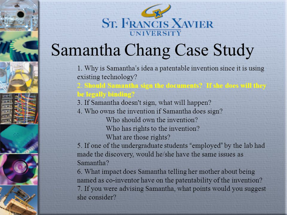 Samantha Chang Case Study