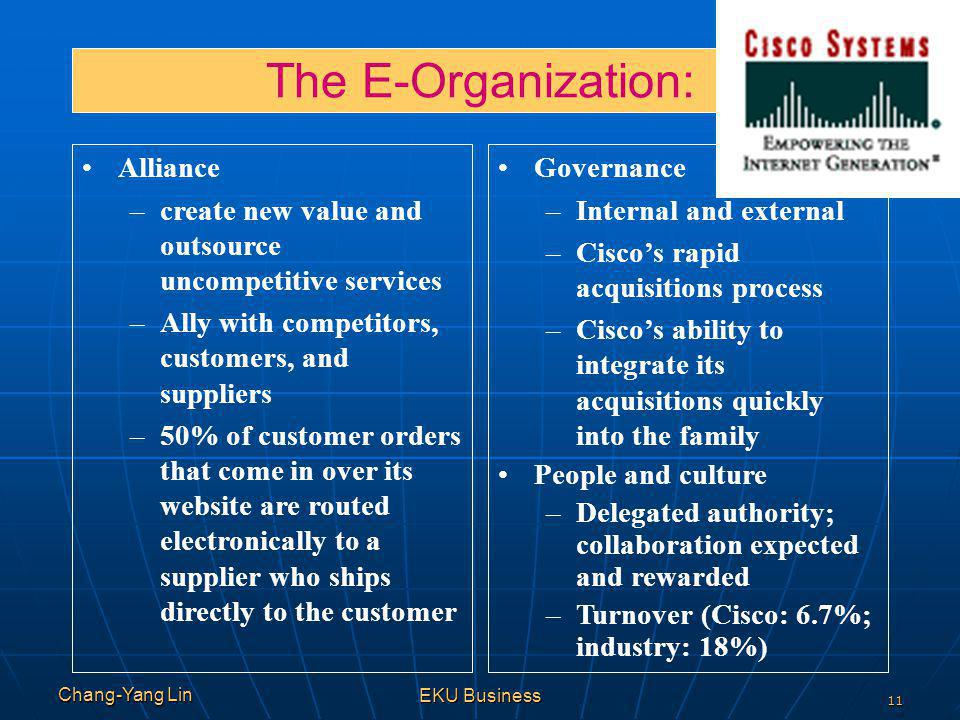 The E-Organization: Alliance
