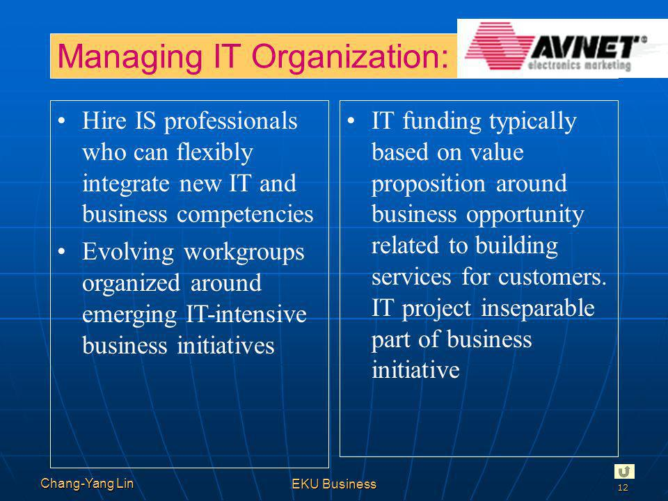 Managing IT Organization: