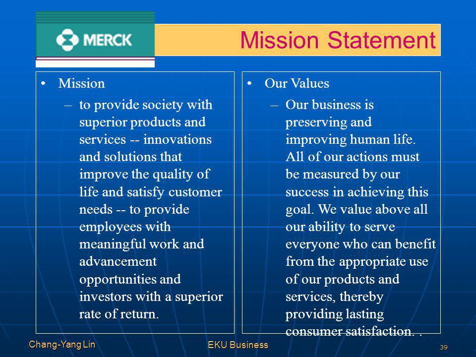 Mission Statement Mission