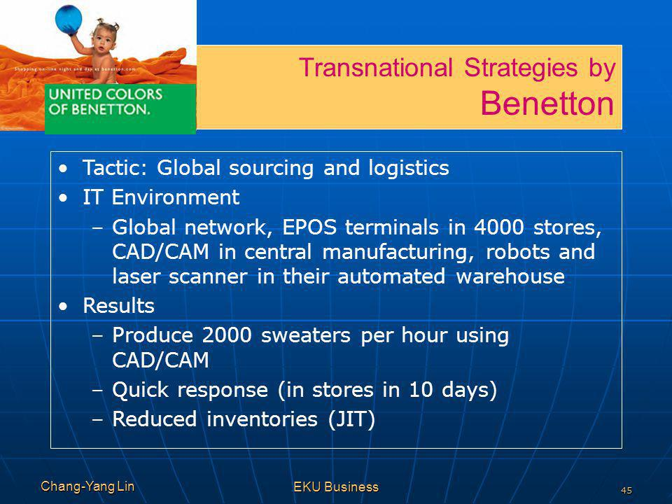Benetton Transnational Strategies by