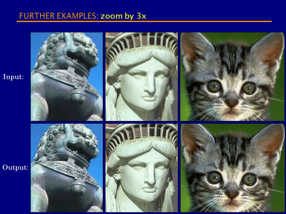 FURTHER EXAMPLES: zoom by 3x