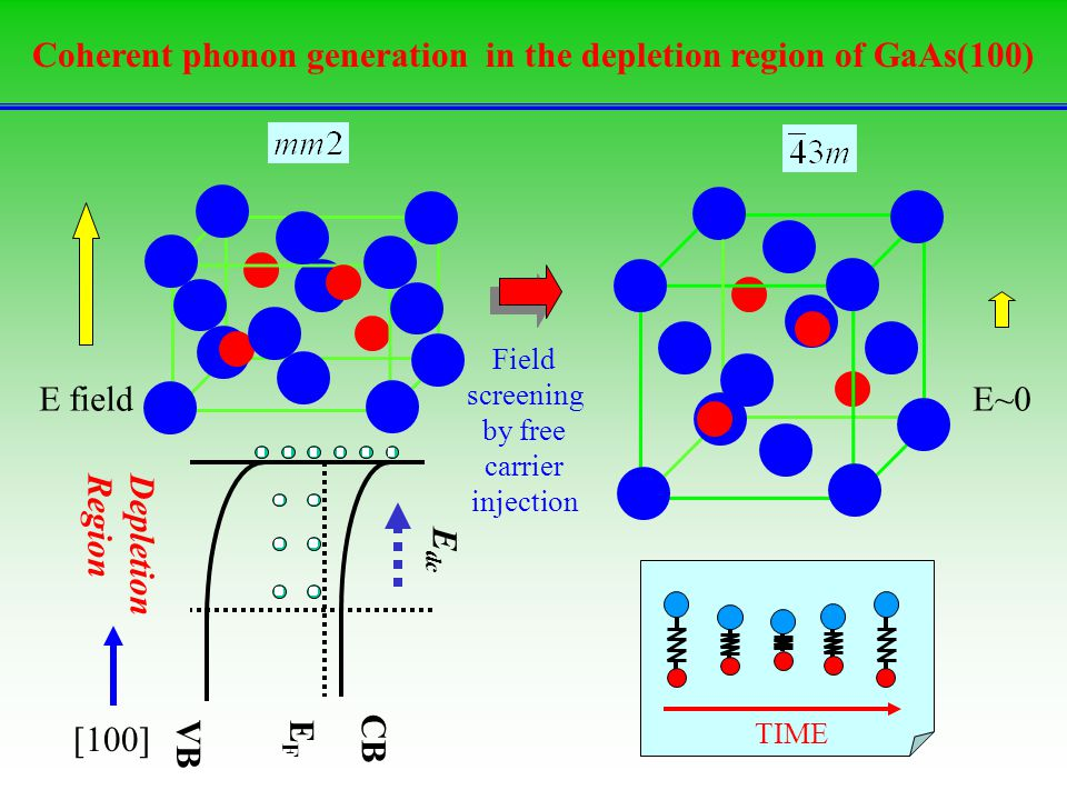 Coherent phonon generation in the depletion region of GaAs(100)