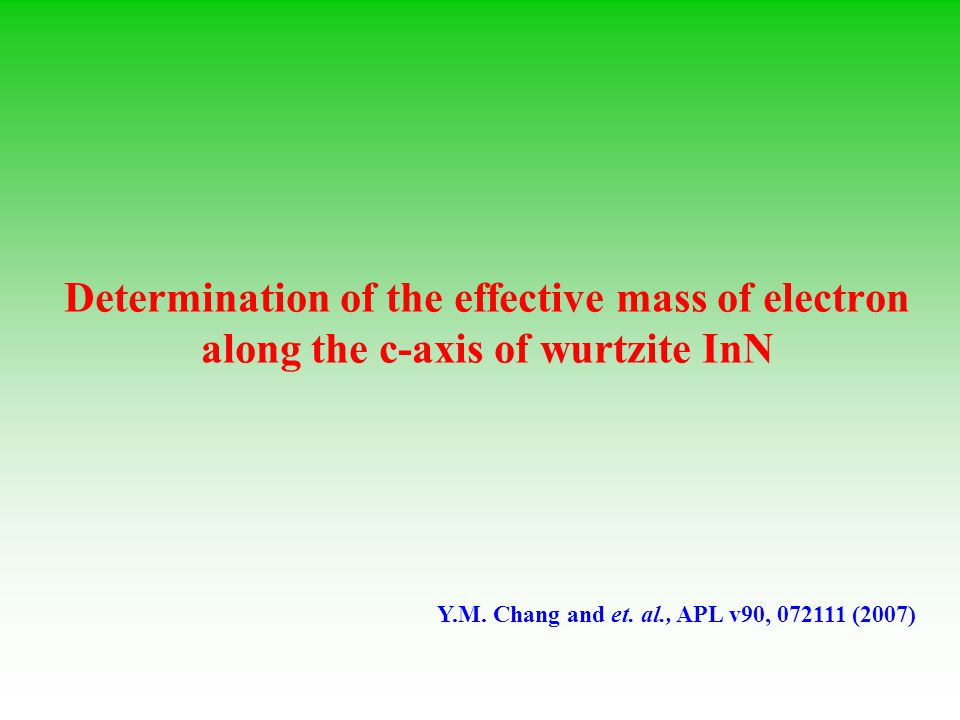 Determination of the effective mass of electron along the c-axis of wurtzite InN