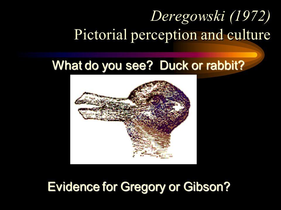 Deregowski (1972) Pictorial perception and culture