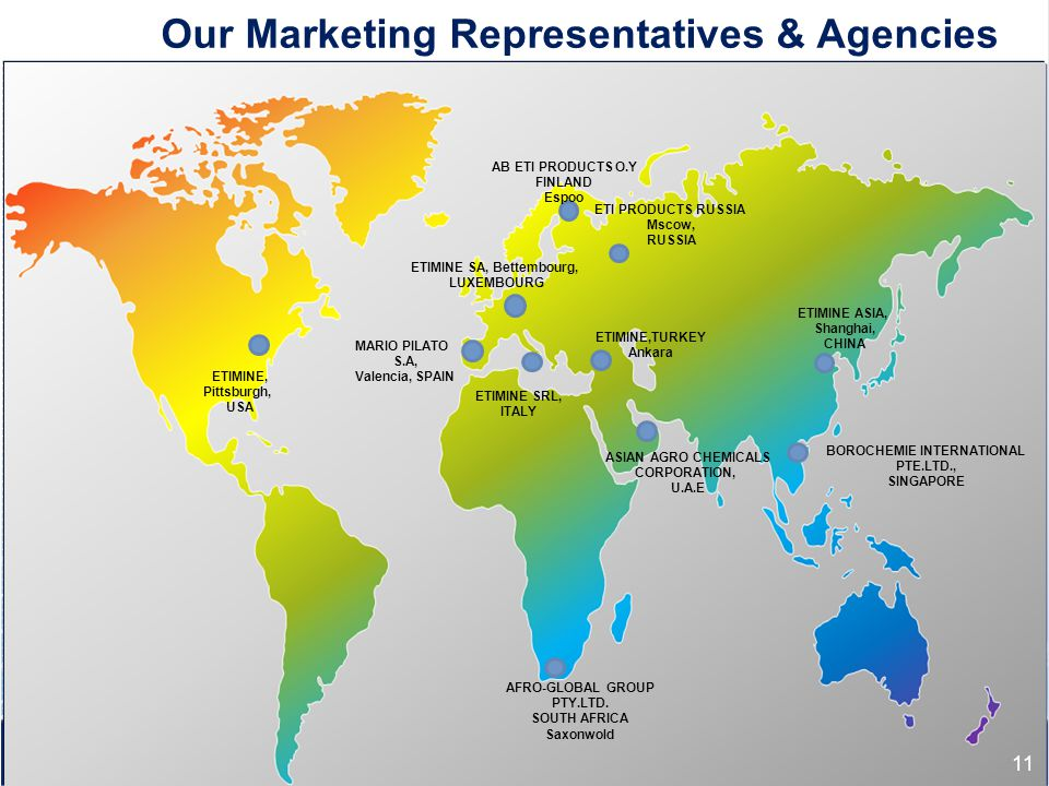 Our Marketing Representatives & Agencies