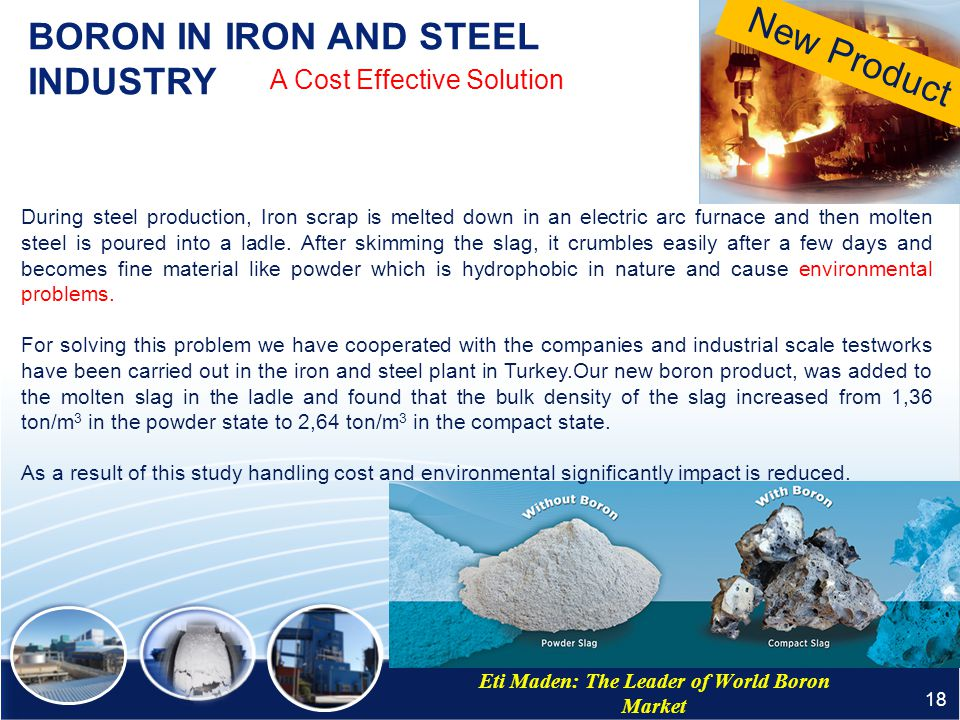 BORON IN IRON AND STEEL INDUSTRY