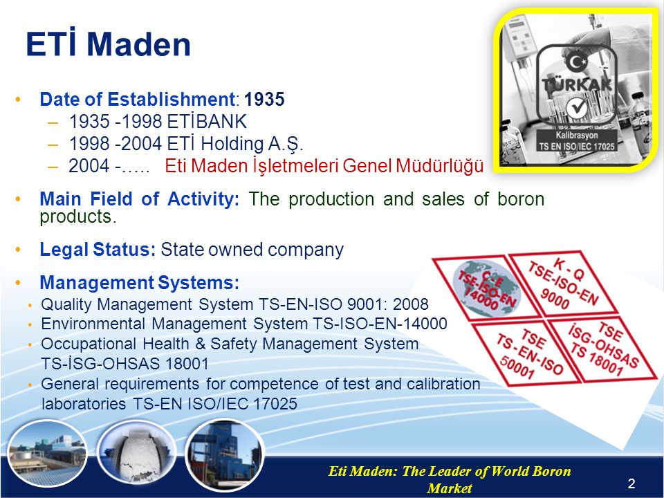 Eti Maden: The Leader of World Boron Market