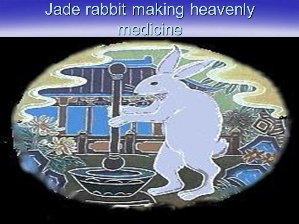 Jade rabbit making heavenly medicine