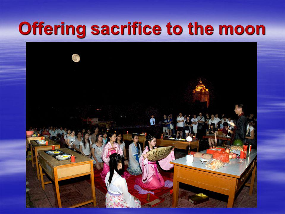 Offering sacrifice to the moon