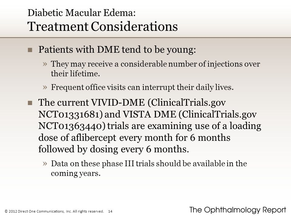 Diabetic Macular Edema: Treatment Considerations