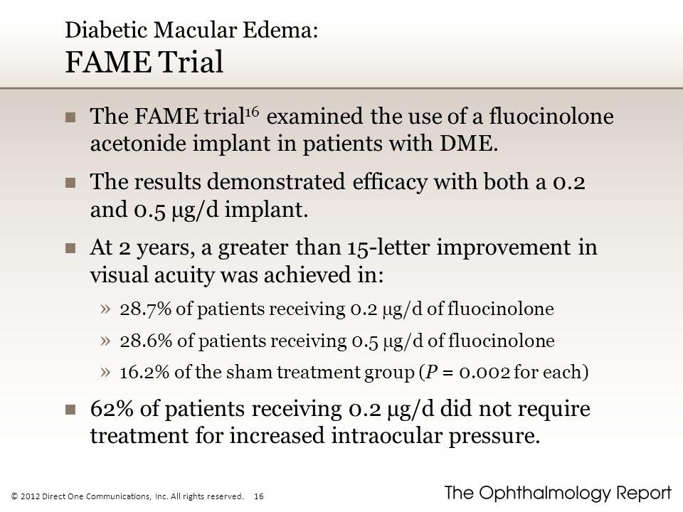 Diabetic Macular Edema: FAME Trial