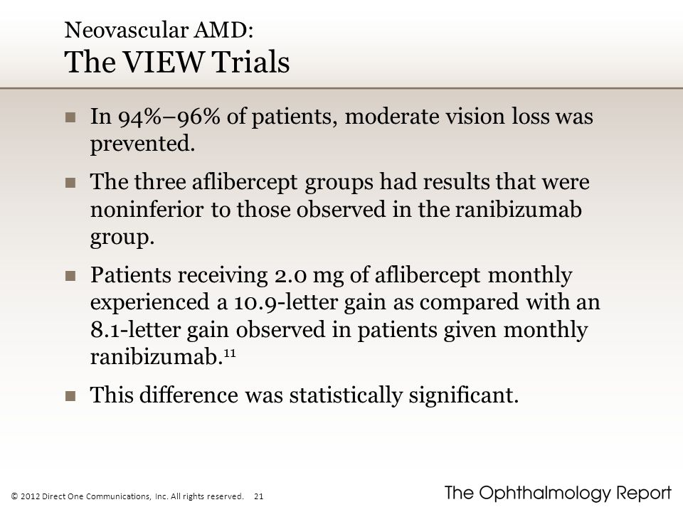 Neovascular AMD: The VIEW Trials