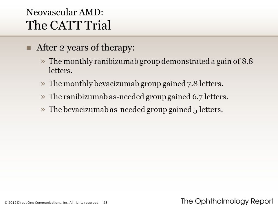 Neovascular AMD: The CATT Trial