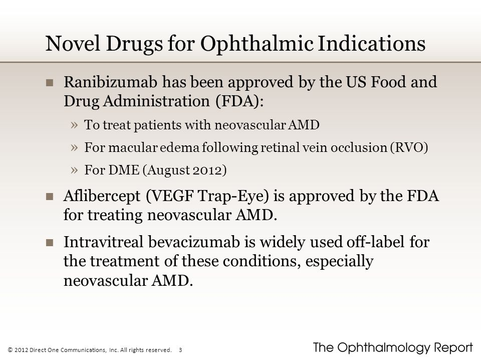 Novel Drugs for Ophthalmic Indications