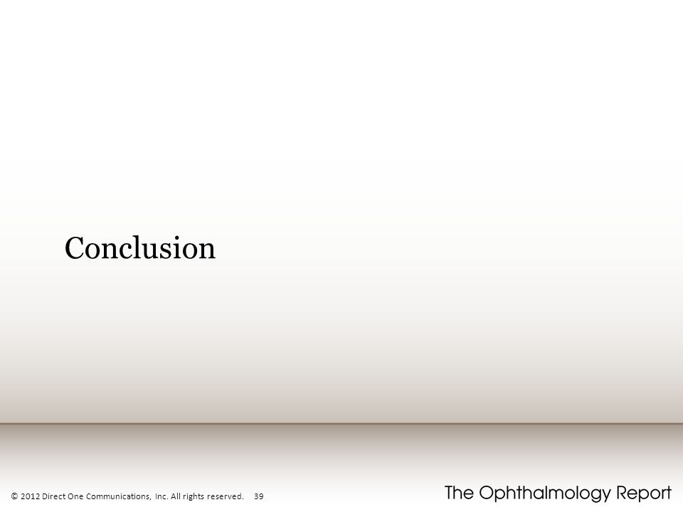 Conclusion © 2012 Direct One Communications, Inc. All rights reserved. 39