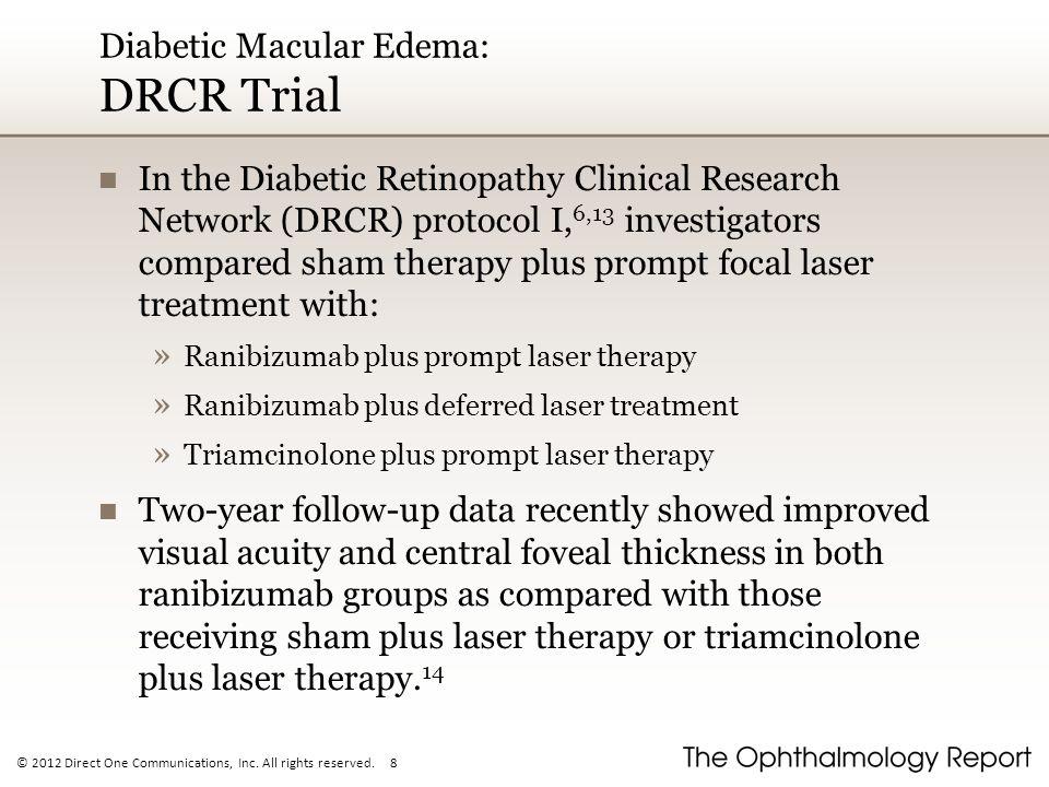 Diabetic Macular Edema: DRCR Trial