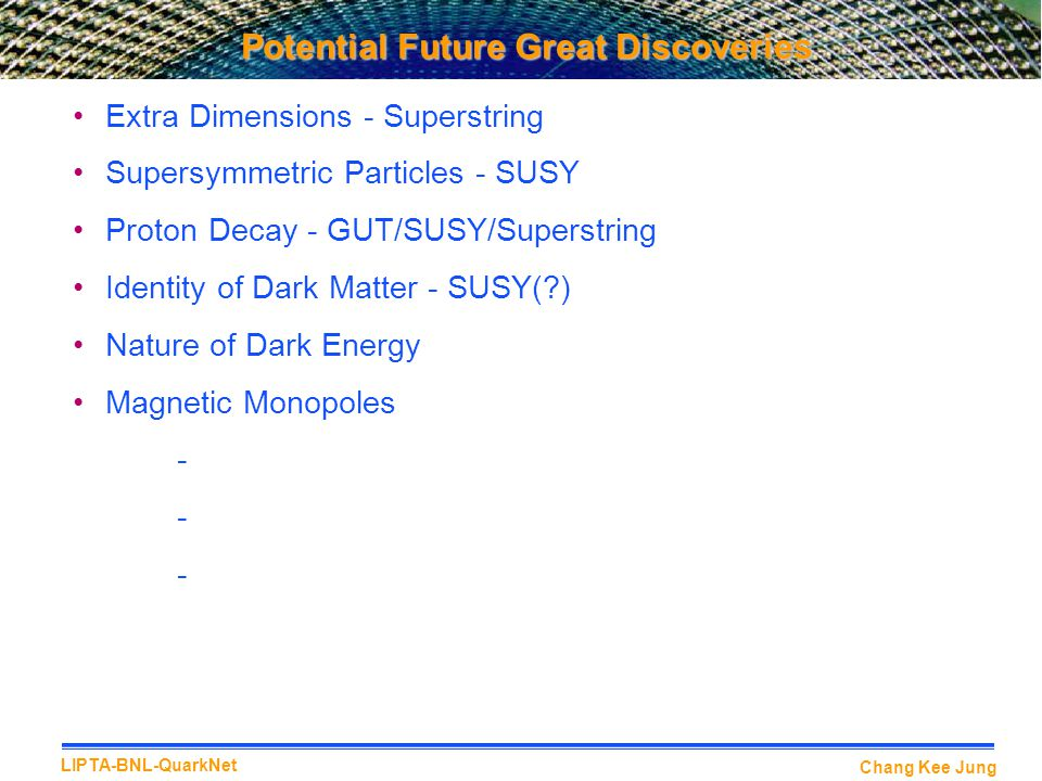 Potential Future Great Discoveries