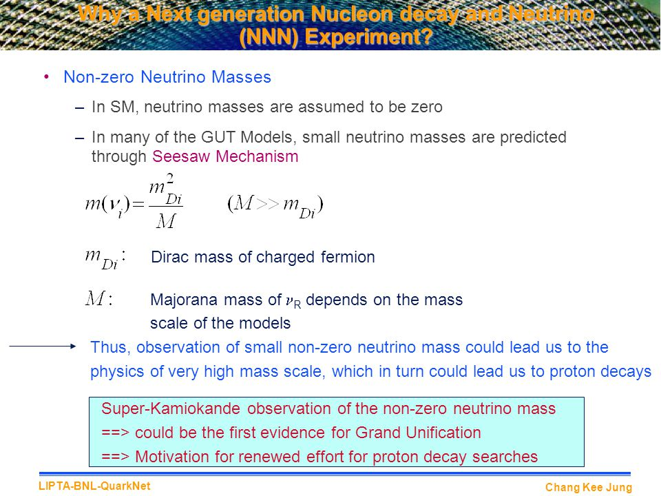 Why a Next generation Nucleon decay and Neutrino (NNN) Experiment