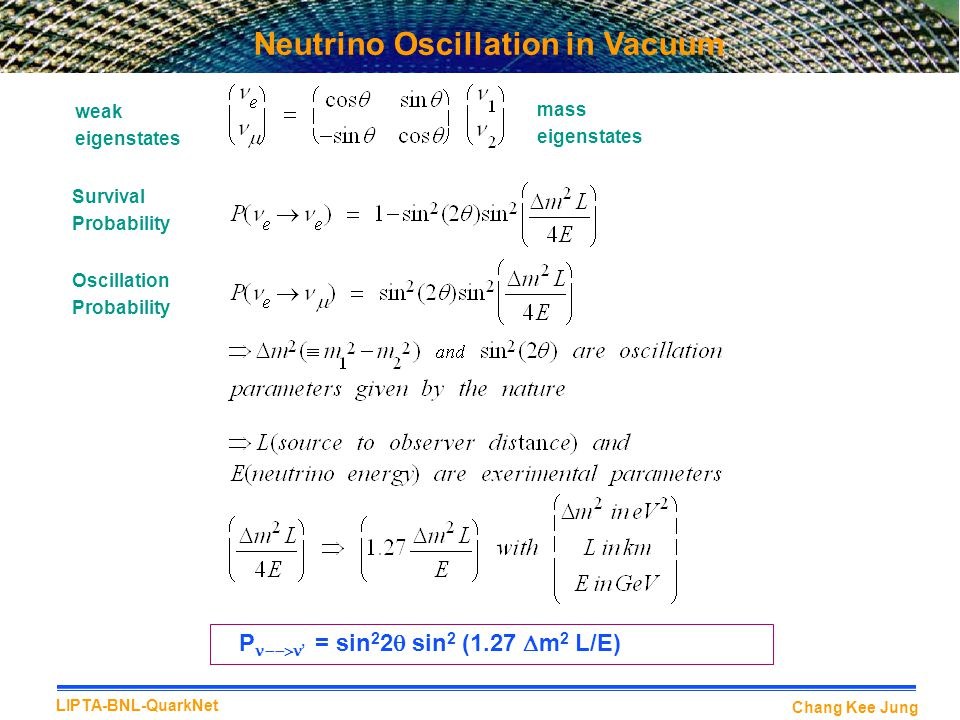 Neutrino Oscillation in Vacuum