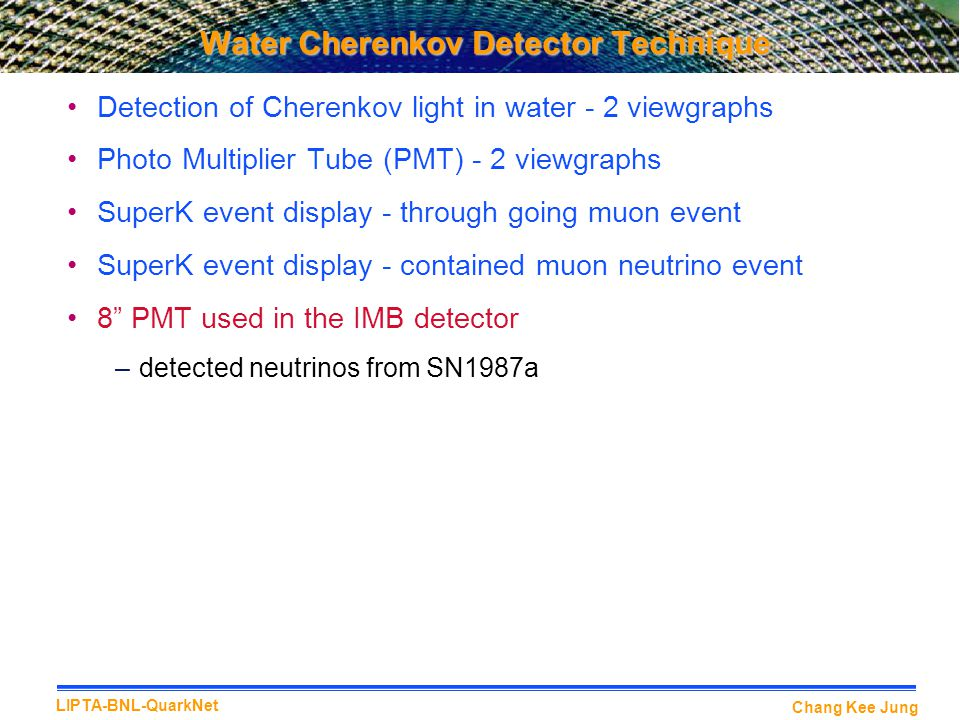 Water Cherenkov Detector Technique