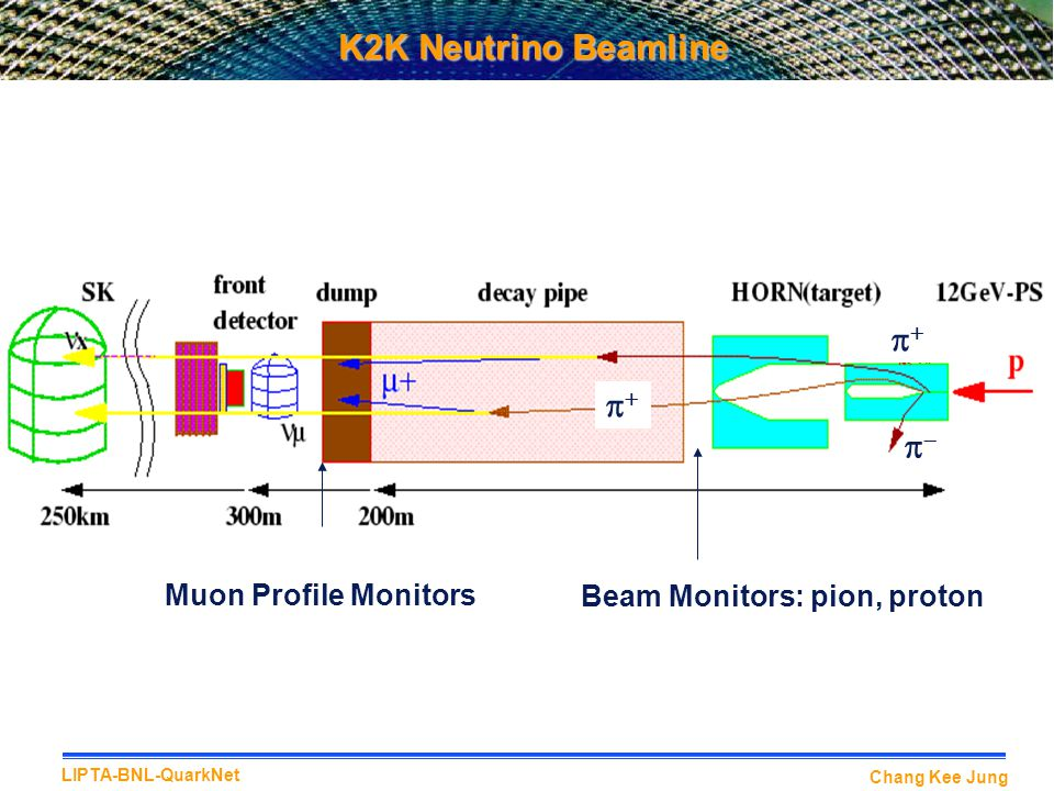 K2K Neutrino Beamline p+ p+ p- Muon Profile Monitors